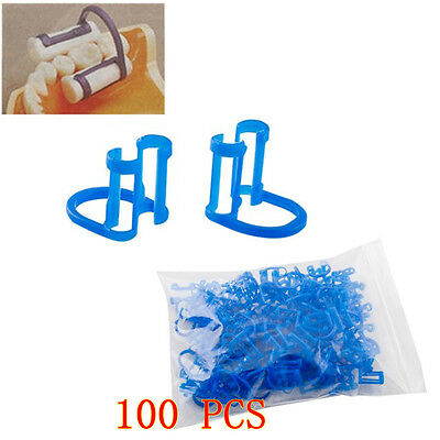 100pcs Cotton Roll Holder Disposable Clip For Dental Clinic  teeth tooth Oral