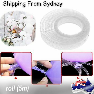 2X 5m Decor Chain Arch Strip Tape Cake Gift Table DIY Balloon Decorating String