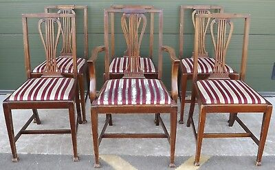 Set of 6 Mahogany Dining Chairs with Lyre Backs in the Antique Style