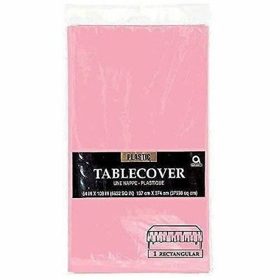 Plastic TABLECOVERS Table Cloth Cover Party Catering Events Tableware Pink
