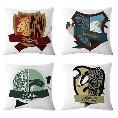 Hogwarts Harry Potter Throw Pillowcase Cotton Linen Cushion Cover Sofa Couch