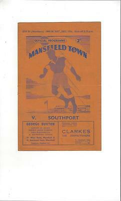 Mansfield Town v Southport Football Programme 1949/50
