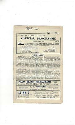 Southport v Mansfield Town Football Programme 1949/50