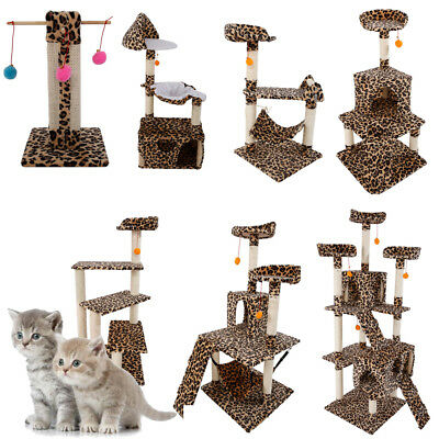 "20""-72"" Cat Tree Condo Scratching Post Pet House Toy Furniture Scratchers Play"