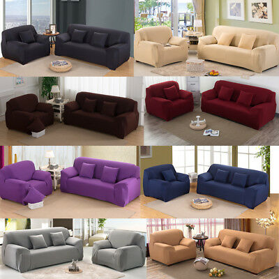 Stretch Couch Sofa Lounge Cover Slipcover Protector Removable  1/2/3 Seater AU