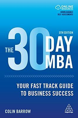 30 Day MBA by Colin Barrow New Paperback / softback Book