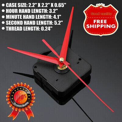 Wall Clock Quartz Movement Mechanism Battery Operated DIY Repair Part Kit Home