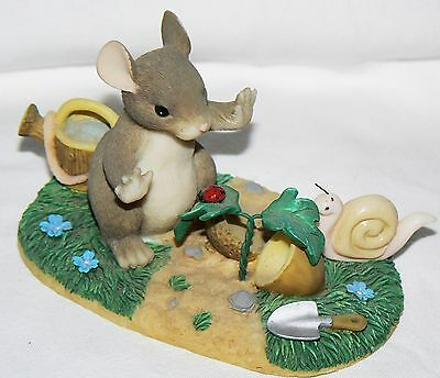 """Dean Griff Charming Tails """"A Growing Friendship"""" Club Exclusive mouse ladybug"""