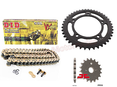 Suzuki GSF1250S Bandit DID Gold X-Ring Chain & JT Black Sprocket Kit Set