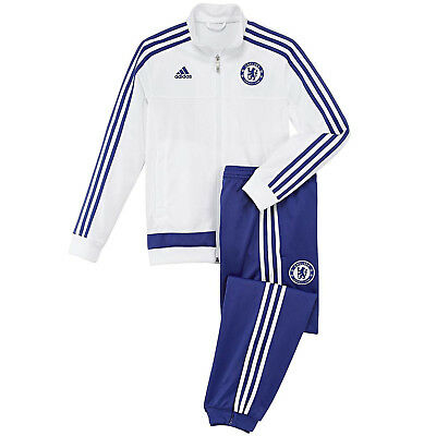 4f40556fed34c5 adidas Performance Boys Junior Chelsea FC Top and Bottom Tracksuit Set - S