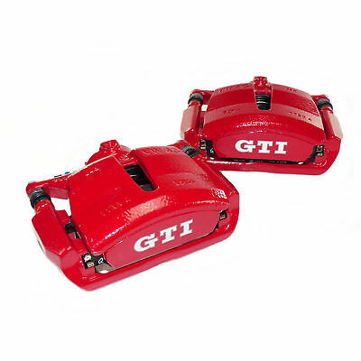 2 brake calipers front brakes 340mm red VW Golf Mk7 GTI performance brake system