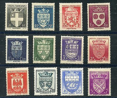 Promotion  //  Timbre France Neuf Serie N° 553/564 ** Blason Cote 60 €