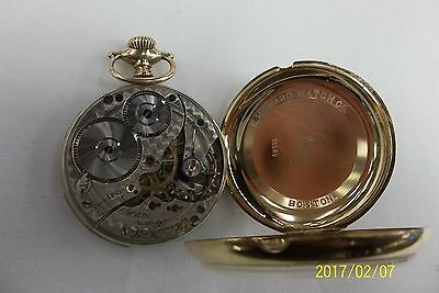 RARE VINTAGE E.HOWARD BOSTON 14K SOLID Gold Pocket Watch 16S Size 17JEWEL1909