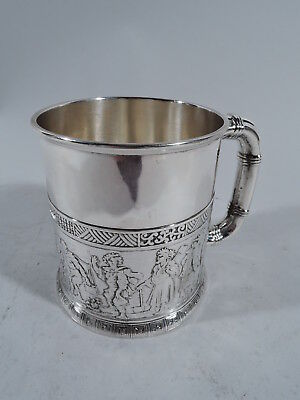 Gorham Mug - 3707 - Antique Christening Baby Cup - American Sterling Silver