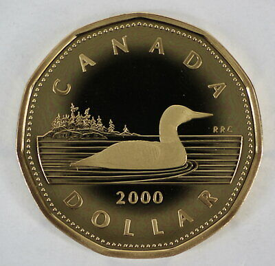 2000 Canada Loonie Proof One Dollar Heavy Cameo Coin