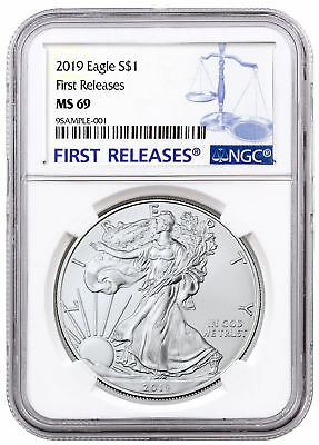 2019 1 oz American Silver Eagle $1 NGC MS69 FR Blue Label SKU56067