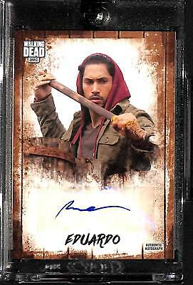2018 Topps Walking Dead Autograph Collection Peter Zimmerman as Eduardo 24/25
