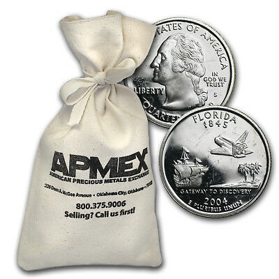 $10 Proof Quarters - 90% Silver 40-Coin Roll (Impaired) - SKU #37167