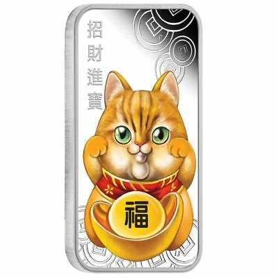 LUCKY CAT - 2019 1 oz Pure Silver Proof Coin - Perth Mint - Tuvalu