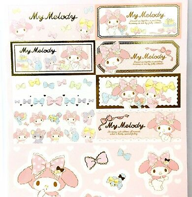 Sanrio My Melody Stickers Scrapbooking Card Crafts DIY Birthday Gift Japan Made