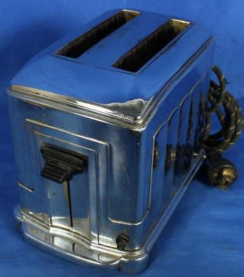 Vintage Waters-Genter USA 1B5 Toastmaster Art Deco Toaster *Tested & Works*