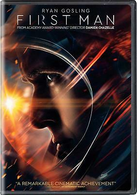 FIRST MAN New Sealed DVD, 2019 Ryan Gosling Claire Foy Jason Clarke Kyle Chandle