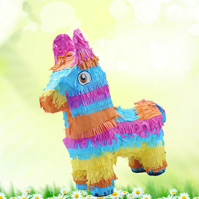 Animal Donkey Pinata Multicolored Decorations for Themed Party Kids Birthday