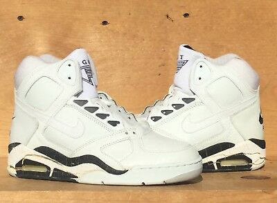 72c7f66e Vintage 1990 Nike Air Flight Force White/Black NOT WEARABLE Size 8 Read Ad