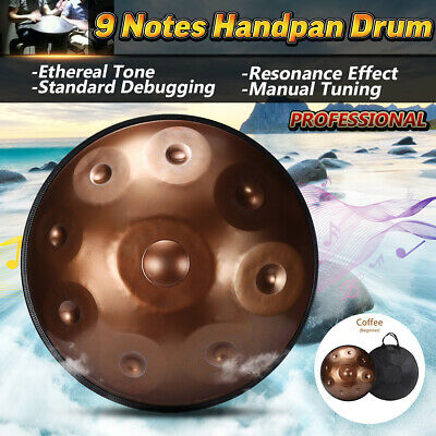 9 Notes Handpan Professional Hand Drum Carbon Steel For Musical Concert With Bag
