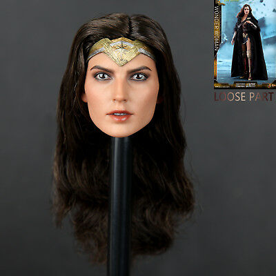 "Hot Toys MMS451 Justice League 1/6 Wonder Woman Gal Gadot Deluxe 12"" Figure Head"
