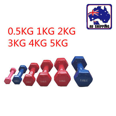 0.5 - 10KG Hex Dumbbell Home Gym Fitness Exercise Women Lady  Arm Traning OVD020