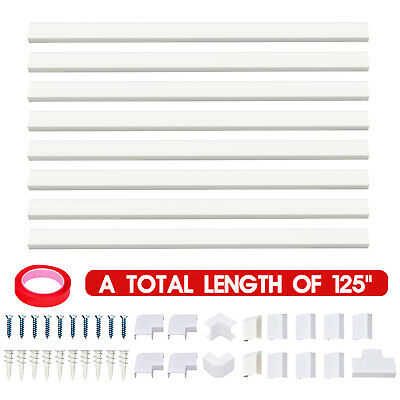 Cable Concealer On  Wall Cord Cover Raceway Kit White Cable Covers white PVC
