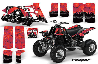 ATV Graphics Kit Quad Decal Sticker Wrap For Yamaha Banshee 350 87-05 REAPER RED