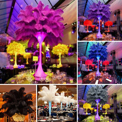 10PCS Ostrich Feathers Plume Centerpiece Wedding Party Table Decor 20-25cm