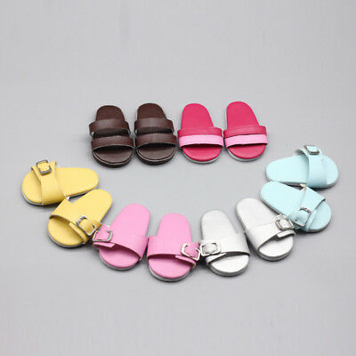 PU Leather Doll Shoes Sandals Accessories Toy For 18 Inch Doll New