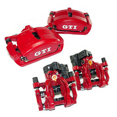 4 brake calipers front rear brakes red VW Golf Mk7 GTI performance brake system