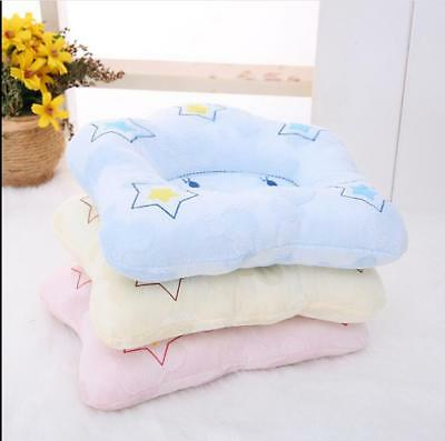 UK Baby Kid Soft Pillow Flannel Prevent Flat Head Anti Roll Support Neck Cushion