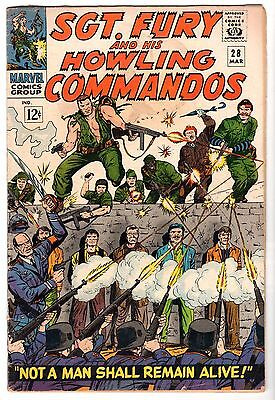 Sgt. Fury and His Howling Commandos #28, Very Good - Fine Condition