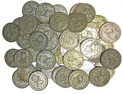 Mexican Silver Peso Coins, Circulated - Lot of 4 coins, FREE SHIPPING