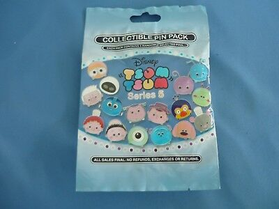 TSUM TSUM blue  Disney Pin 5 PINS SERIES 5 Collectible PIN PACK Mystery NEW
