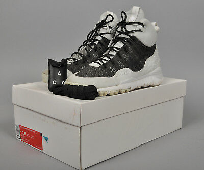 dd366c9a8350 Men s NIKE LUPINEK FLYKNIT ACG Hi Top Trainer Boots Black White Size UK ...