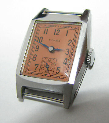Never Used WATCH 1930s HERMA swiss RARE new old stock watch art deco