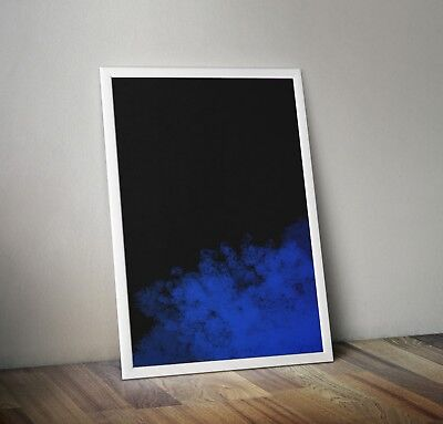 Abstract Prints Printable Wall Decor Downloadable Blue Christmas by Randy Newman