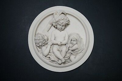 Marble Wall Plaque 'The infant academy', Marble Sculpture, Art, Gift, Ornament.