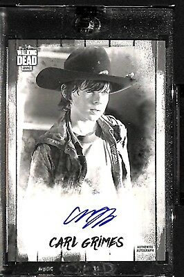 2018 Topps Walking Dead Autograph Collection CHANDLER RIGGS Auto #5/5 CARL