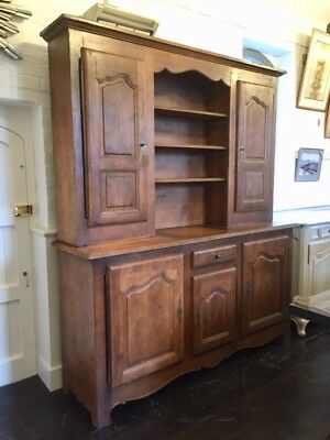 Very Large Contemporary French Solid Oak Kitchen Dresser