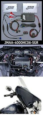J&M Performance 400 Watt 4 Channel Amplifier Kit Amp Harley Street Glide Speaker