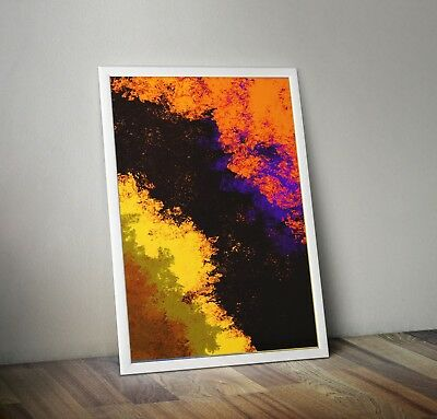 Abstract Prints Printable Wall Decor Downloadable Orange was here Thomas Newman