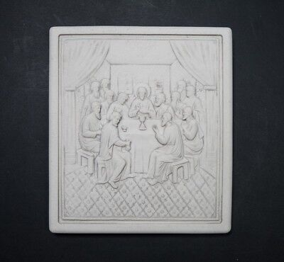 Marble Wall Plaque 'The Last Supper', Religeous , Christianaty, Art, Gift.