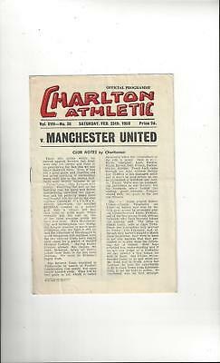 Charlton Athletic v Manchester United Football Programme 1949/50